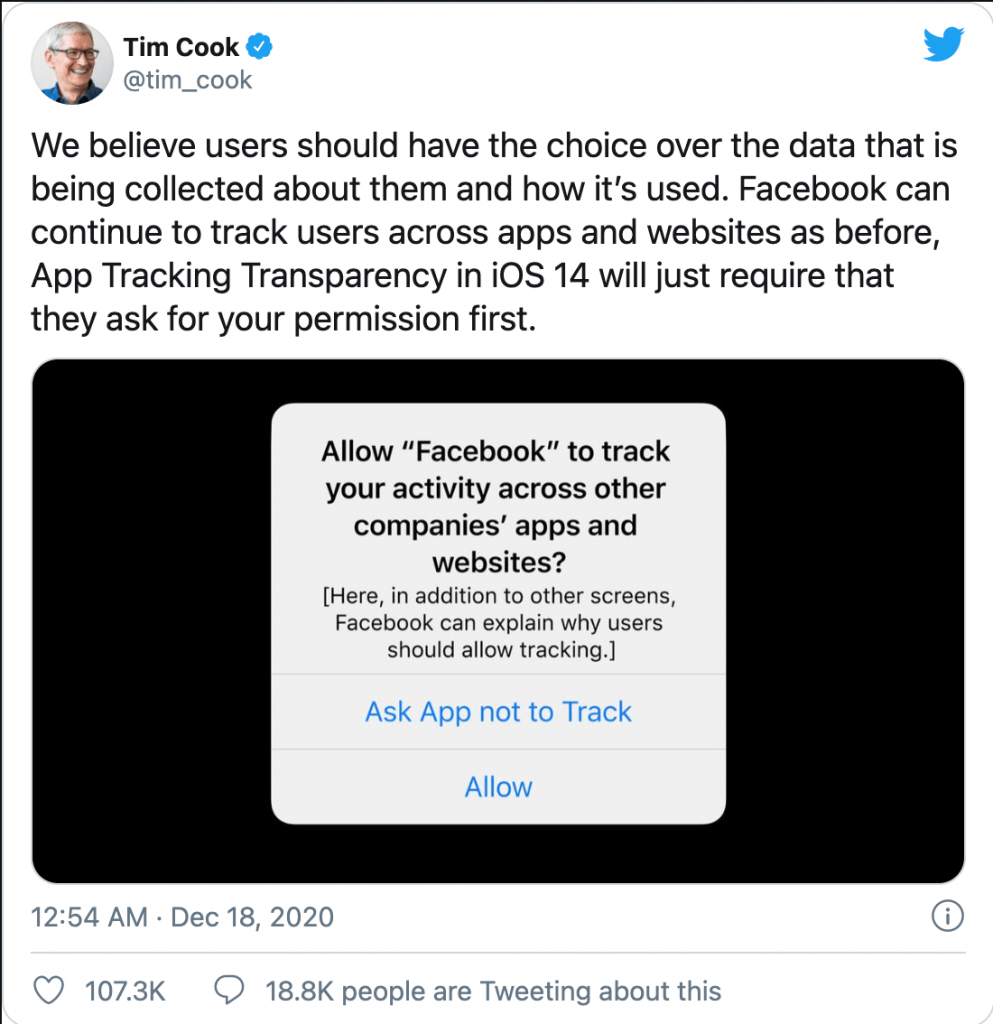 Tim Cook Apple Vs Facaebook Apple Privacy