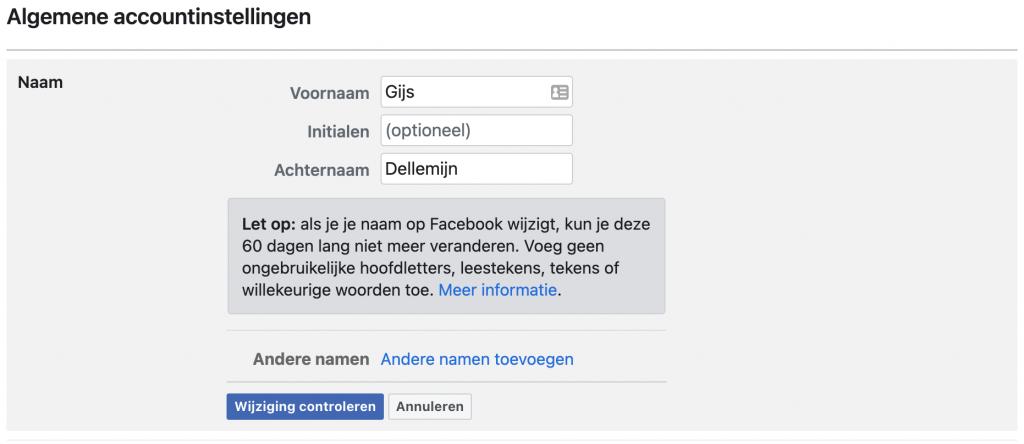 naam wijzigen facebook uitleg van veiligadverteren.nl